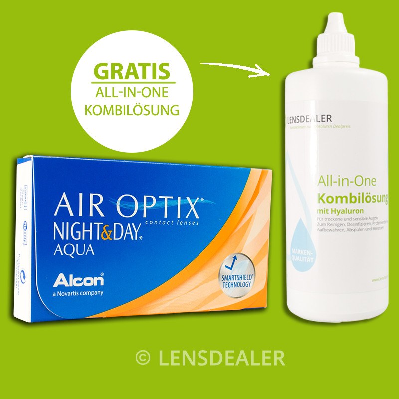 1x6 air optix night and day aqua kontaktlinsen monatslinsen pflegemittel ebay. Black Bedroom Furniture Sets. Home Design Ideas